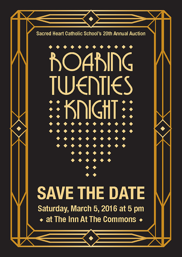twenties save the date front